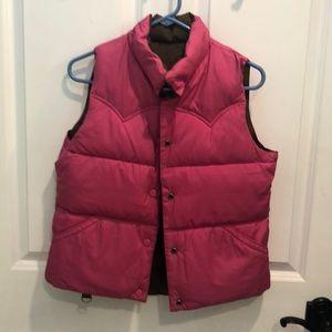 Reversible pink/brown AE puffer vest
